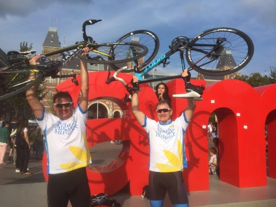 London to Amsterdam 2016 Steve Story and Stuart Roberts